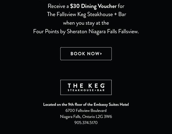 Loyalty Offer - Four Points by Sheraton Niagara Falls Fallsview Hotel